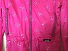 Vintage Lescan Aspen Skiwear Pink Ski Snowboard Suit With Downhill Skiers Sz 8