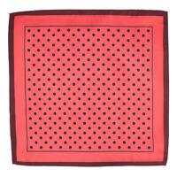 Silk Red Polka Dots Pocket Square Formal Wear Dress Suit Silk Handkerchief