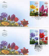 Israel 2018 FDC Spring Flowers Tulips Chrysanthemum 4v Set on 2 Covers Stamps
