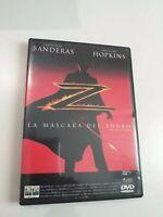 DVD  la mascara del zorro de antonio banderas y  anthony  hopking