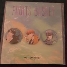 Fruits Basket Anime Manga Exclusive 3 Button Pin Set Shigure Kyo Yuki Brand New