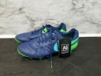 NEW Nike Tiempo Legend VI Soccer Cleats Men's Size 6.5 ACC AG PLATE Blue/Green