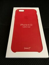 NEW Genuine Apple iPhone 6S (Product) RED LEATHER CASE