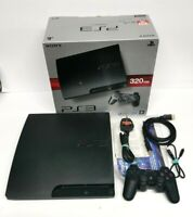 Boxed Sony PlayStation 3 Slim 320GB Console CECH-3003C 1 Controller