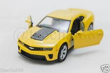 Welly 1:34-1:39 DIECAST Chevrolet Camaro ZL1 Car Yellow Model COLLECTION New