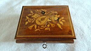 Wunderschöne antike Spieldose Spieluhr Schmuckschatulle mit Reuge Spielwerk