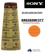 Genuine Sony 377 SR626SW Silver Oxide Watch Battery 1.55v Cell Made in japan