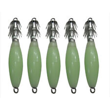5x Noctilucent Squid Cuttlefish Sleeve Jig Fishing Lure Bait Head Hooks N9J4