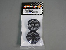 RC Car 1/10  WHEELS Adjustable Offset  3mm-6mm-9mm -MARGUERITE BLACK -4 RIM