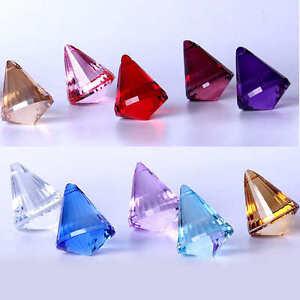 Suncatcher Chandelier Drops Clear Hanging Crystal Decor Prism Pendant Xmas Gift