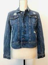 A Pea in the Pod Distressed Jean Jacket Year Round Size Medium