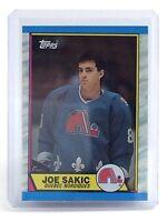 1989-1990 Joe Sakic #113 Quebec Nordiques Topps Ice Hockey Card H741