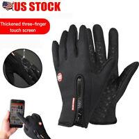 Mens Winter Warm Anti-slip Thermal Touch Screen Gloves Waterproof Ski Mitten US