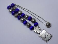 More details for sterling 925 silver worry beads. unusual piece. transmed. 34 grams.
