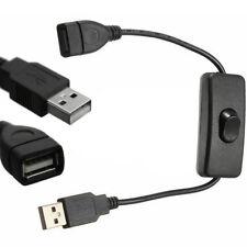 USB Kabel mit Schalter Stromkabel EIN /AUS Stecker Toggle Ladegerät Verlängerung