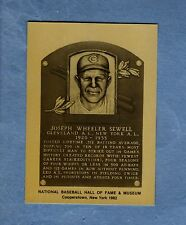 JOE SEWELL, Indians/Yankees: Official Hall of Fame METALLIC plaque-card 1/1,000