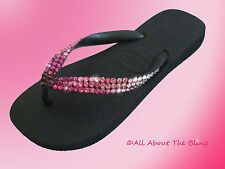 Havaianas flip flops or Wedge with Swarovski Crystal Pink Ombre EXCLUSIVE