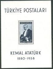 TURKEY #841 Souvenir sheet, og, NH, VF, Scott $70.00