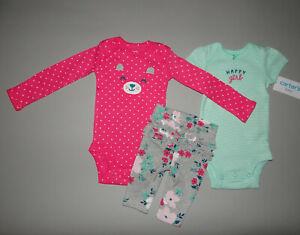 NWT, Baby girl clothes, Newborn, Carter's 3 piece set