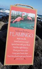 ADVICE FROM A FLAMINGO - GET FEET WET SHOW TRUE COLOR Pink Beach Home Decor Sign