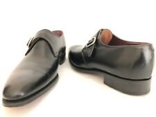 Alfred Sargent Hatton Exclusive Black Leather Monk Strap Shoes Sz 7 UK 7.5 US