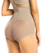 LEONISA HIGH WAIST BODYSUIT TUMMY SHAPER, SIZE S, NUDE COLOR
