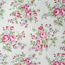 "Cath Kidston PVC Coated Cotton Oilcloth Square 17""x17"" Chelsea Rose OF068"