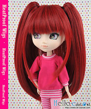 "【HT-02C】Pullip Taeyang DAL 8.0~9.5"" HP Wig with Hair Pin # Deep Red"