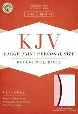 Holman KJV Large Print Personal Size Bible; 2014 Leather Touch; White-Pink-Brown