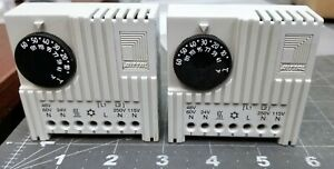 (2) Rittal SK 3110 Adjustable Enclosure Thermostat WORKING PULL [B1BA]