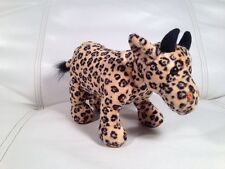 "Plush Cow Bull Steer w/ Cheetah Leopard Print 7"" Westland Giftware UNIQUE Gift"