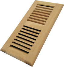 Homewell White Oak Wood Floor Register Vent, Drop In Vent With Damper, 4x10 Inch