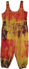 NEW Great Gear Clothing Company Tie Dye Jumpsuit Womens Size S - Yellow W446