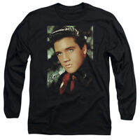 Elvis Presley RED SCARF Licensed Adult Long Sleeve T-Shirt S-3XL