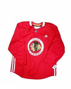 ADIDAS NHL CHICAGO BLACKHAWKS PRACTICE JERSEY RED CANADA SIZE 56