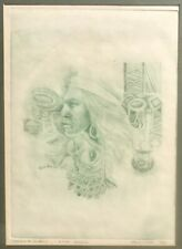 "Karl Mclntosh Etching  "" Oklahoma Indian ""  LTD:6/100 Year: 1976"