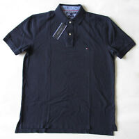 Tommy Hilfiger Navy Blue collared Golf Polo Casual Short Sleeve Shirt Mens L