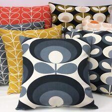 ❤️Handmade retro Cushion Cover in Grey Orla Kiely Seventies & Oval Flower Fabric