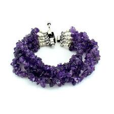 Bracelet natural purple amethyst gemstone chips beaded handmade jewellery 50 gm