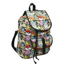 Pokemon All Over Print Pikachu and Characters Checkered Backpack