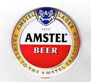 "Amstel Jumbo Fridge Magnet Beer Mat Bar Ale  3"" 75mm blade Sub pub lager"
