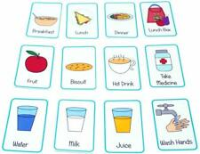 Children's Autism Special Needs Snacks Food Flash Cards - Non Verbal Pictures