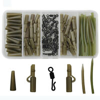 120pcs Carp Fishing Tackle Safety Lead Clips Quick Swivel Anti-Tangle Sleeve Kit
