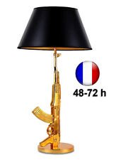 Lampe de Table Arme Kalachnikov AK47 Or Design Luxe Pop Art