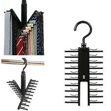 2 Pcs Cross X Hangers Tie Belt Rack Organizer Hanger Non-Slip Clips Holder Black