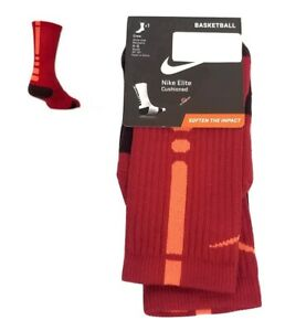 Nike Elite Cushioned Crew Basketball Socks Gym Red Youth 3Y-5Y SX4586-688