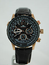 Sport Adult Round Wristwatches with Tachymeter