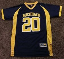 MICHIGAN WOLVERINES # 20 NCAA FOOTBALL JERSEY BY GENUINE STUFF YOUTH XL 18 / 20