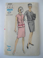 Vintage Vogue Jacket & Skirt Pattern #6507  Size 12/Bust 32