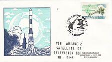 X288 enveloppe thème ESPACE oblitération vol 26 Ariane 2 du 27/10/1988 numero147